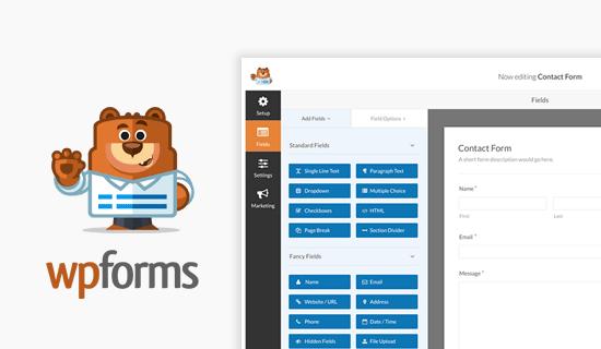 WordPress联系表单插件1. WPForms